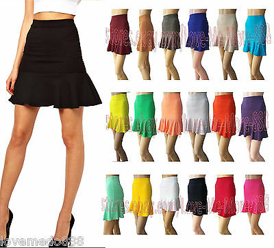 NEW Womens Wear Work Casual BUSINESS PARTY Ruffle Fish Tail Mermaid Skirts Dress