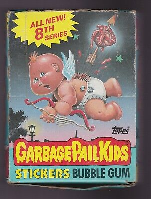 1987 Topps GARBAGE PAIL KIDS 8th Series 8 Box of Unopened Packs
