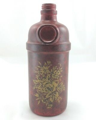 Tanqueray Gin Bottle Hand Painted Appliqué Floral Decorated London England