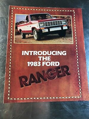 Truck Original Sales Brochure 1983 FORD Ranger Fold-Out 8 pages