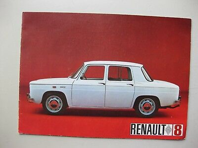 Renault 8 brochure depliant Prospekt English text 1967 8 pages
