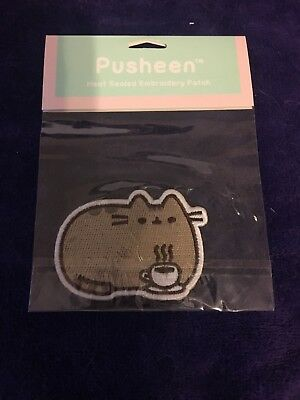 Pusheen Coffee Cup Embroidery Iron On Patch