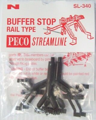 Peco N Scale Sl-340 Buffer Stop Rail Type Kit