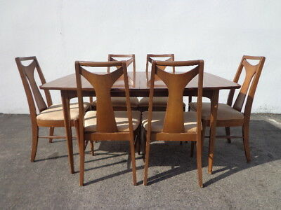 8pc Mid Century Modern Kent Coffey Perspecta Dining Table Chairs Set Kitchen