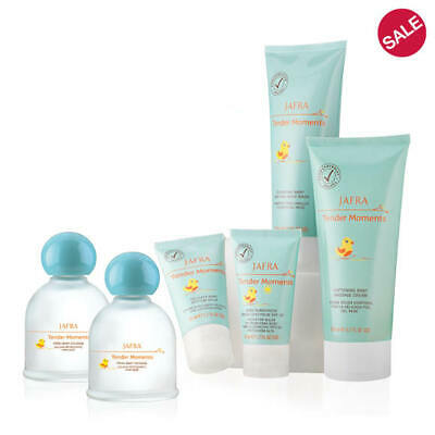 JAFRA Baby Tender Moments 5 PC Set Wash,Cologne,Cream,Sunscreen cream FREE DUCKS