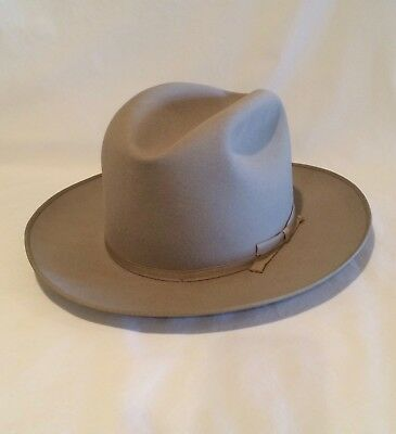VINTAGE STETSON ROYAL DeLuxe OPEN ROAD Fedora Hat 1950s  6 7 8 -7-7 ... 8f973d71095c