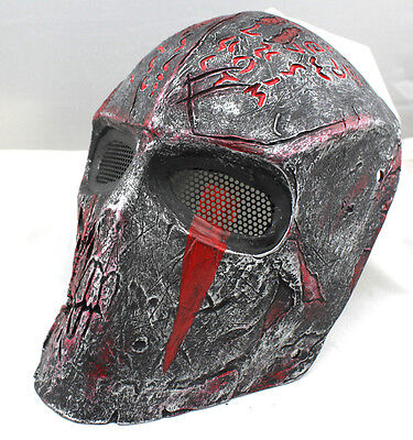 Durable Fiber Resin Mesh Eye Airsoft Paintball Full Face Protection Terror Mask