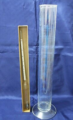 VINTAGE 15 inch 500 ml. GLASS HYDROMETER TEST TUBE-BEAKER  for ALCOHOL