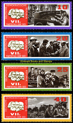 EBS East Germany DDR 1967 Party Congress of the SED (I) Michel 1258-1261 MNH**