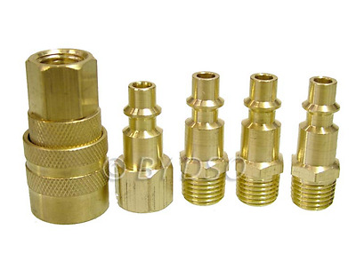 Trade Quality 5 Piece Brass Air Quick Connect Coupler Set Female Male Connectors
