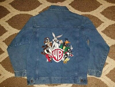WB Kids XL Looney Toons Denim Embroidered Jacket