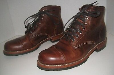 d6485be6ada Wolverine 1000 Mile Adrian Cap Toe Boot Brown Leather Men Shoes Size 8 D   415+
