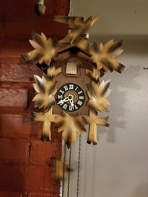 Vintage Hubert Herr Cuckoo Clock ~ Triberg, Germany Working
