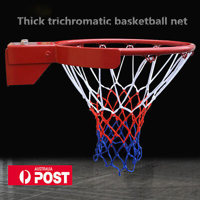 Standard Basketball Hoop Net Durable Nylon Thread Netball Rim Mesh Nets AU