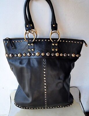 78333bfec526 GUCCI Black Leather Babouska Tote Bag Large Italy Rare! Sold Out! RRP $2,500
