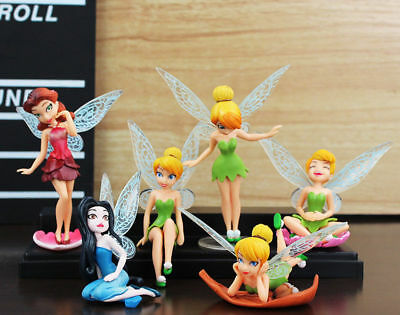 6pcs Tinker Bell Fairies Princess Action Figures PVC Doll Toy Gift New