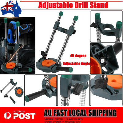 43mm Drill Hole Guide 45°Angle Adjustable Cordless Drill Holder Woodworking Tool