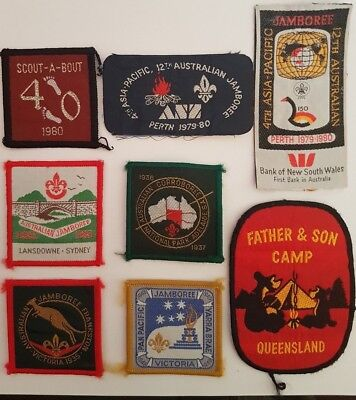 Vintage Boy Scout Jamboree patches from the 30's 50's 60's 70's Mint never used