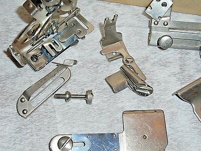 Lot of Vintage Sewing Machine SINGER SIMANCO Attachment... See pictures