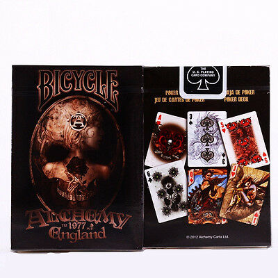 Alchemy ll Gothic England Deck Poker Bicycle Playing Cards Magic Props Tricks