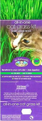 CAT GRASS Kit - Nature's Medicine for Cats - Eliminate fur balls - Quick & Easy