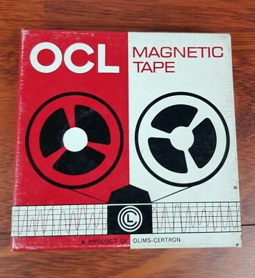 OCL magnetic tape  Blank Reel to Reel 5 3/4 inch Tape two hours recording time