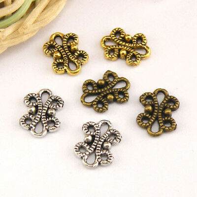 18Pcs Tibetan Silver,Antiqued Gold,Bronze Butterfly Charms Connectors M1474