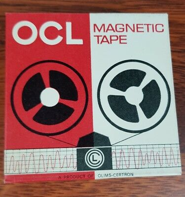 Three OLC magnetic tape  Blank Reel to Reel 3 inch Tape  One hour recording time