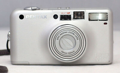 *MINT* Pentax Espio 120SW 35mm Point & Shoot Camera 28-120mm Lens SN: 4942349
