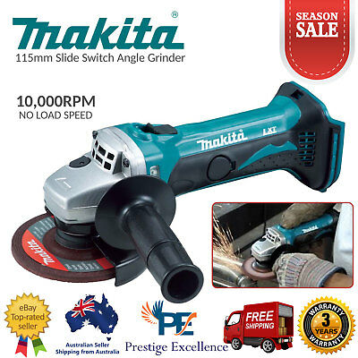 Makita DGA452Z 18V Li-Ion Cordless Mobile 115mm Slide Switch Angle Grinder Skin