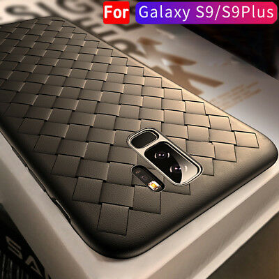 For Samsung Galaxy S9 S9Plus Leather TPU Case Thin Shockproof Full Protect Cover