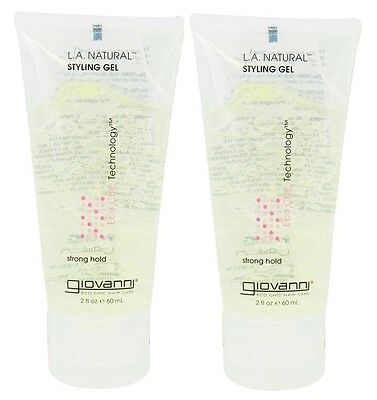 GIOVANNI L.A. NATURAL STYLING GEL TRAVEL SIZE 60ml - STRONG HOLD (2 Pack)