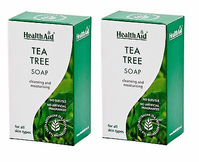 No Parabens Sles Strong-Willed Healthaid Tea Tree Soap For All Skin Types 2x100g Sls