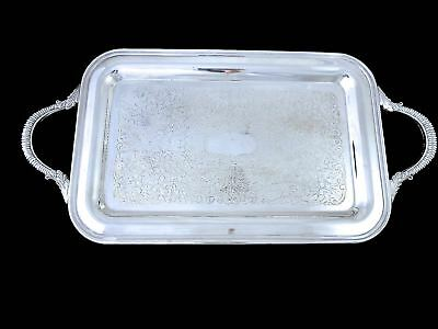 Vintage CANADIAN Silverplate SERVING TRAY W/HANDLES