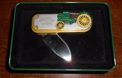 john deere waterloo boy collector knife in tin  new