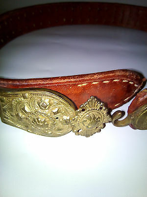 Antique, forged silver alloy belt, late 18th - early 19th century, handcrafted