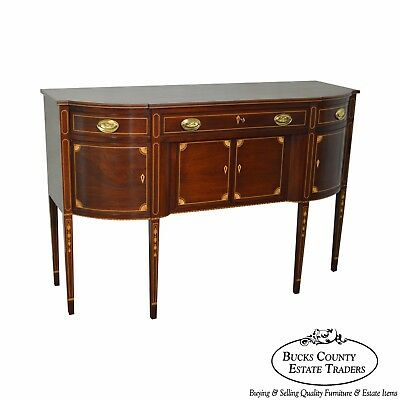William Johnson Bench Made Mahogany Federal Style Inlaid Sideboard