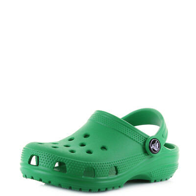 Kids Crocs Classic Grass Green Boys Girls Mule Clogs Sandals Shu Size