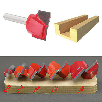 5pcs 10,16,22,25,32mm Surface Planing Bottom Cleaning Wood Cutting Router Bit