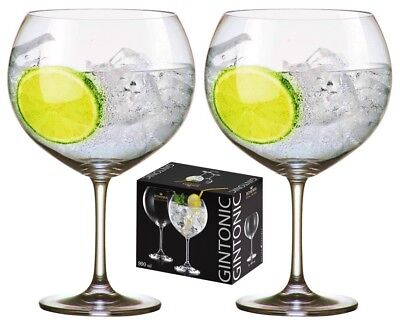 XXXXL 990ml Crystal Gin Balloons set 2, Gift Boxed, Royal Bohemia Crystal