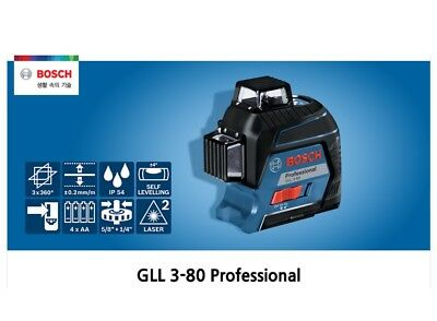 "New 360 Degree 3 Plane Leveling and Alignment Line Laser Positioni "" GLL3-80-RT"