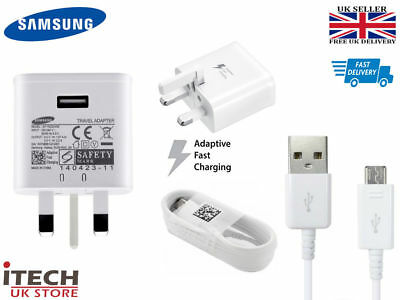 100% Genuine Fast Charger Plug & Cable For Samsung Galaxy S6 S7 Edge Note 4