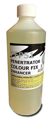 Penetrating solution colour dye enhancer, fixative for less absorbent materials.