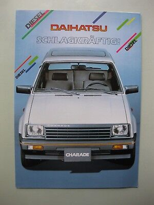Daihatsu Charade Diesel Prospekt brochure 1984 German text Deutsch 6 pages Swiss
