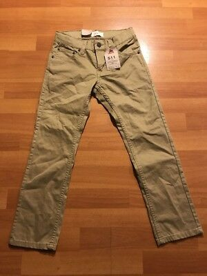 Levis 511 Slim Youth Size 8 Khaki Pants New With Tags