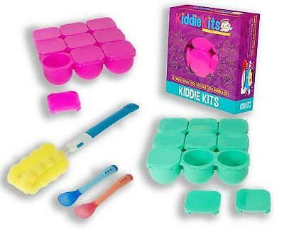 Baby Food Containers Freezer Tray Bundle-Reusable Set BPA FREE