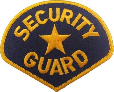 "Security Guard Star Embroidered Shoulder Patch 3.75"" x 4.25"""