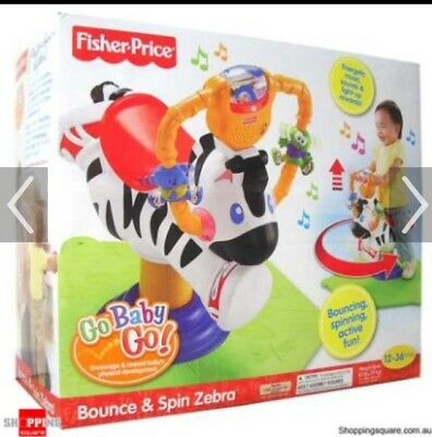 fisher price bounce and spin zebra go baby go with original box rh picclick com Bounce and Spin Zebra Bounce and Spin Zebra Recall