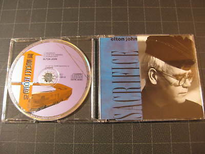 Elton John Sacrifice GERMANY CD single purple rocket logo