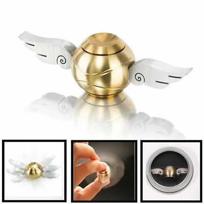 Quidditch Golden Snitch Hand Fidget Spinner Wings ADHD Stress Relief Toys QW